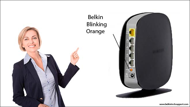 belkin blinking orange inner